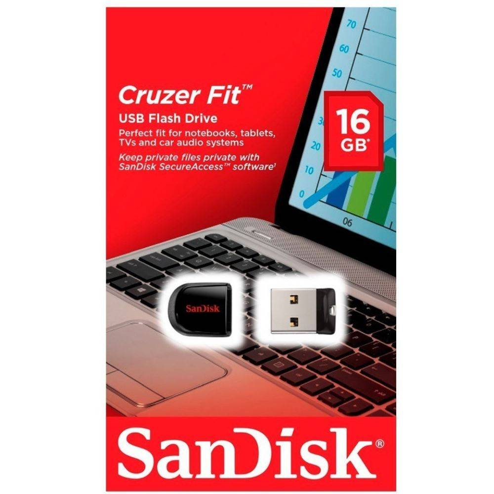 MEM 16GB USB CRUZER FIT BLACK SDCZ33-016G-G35