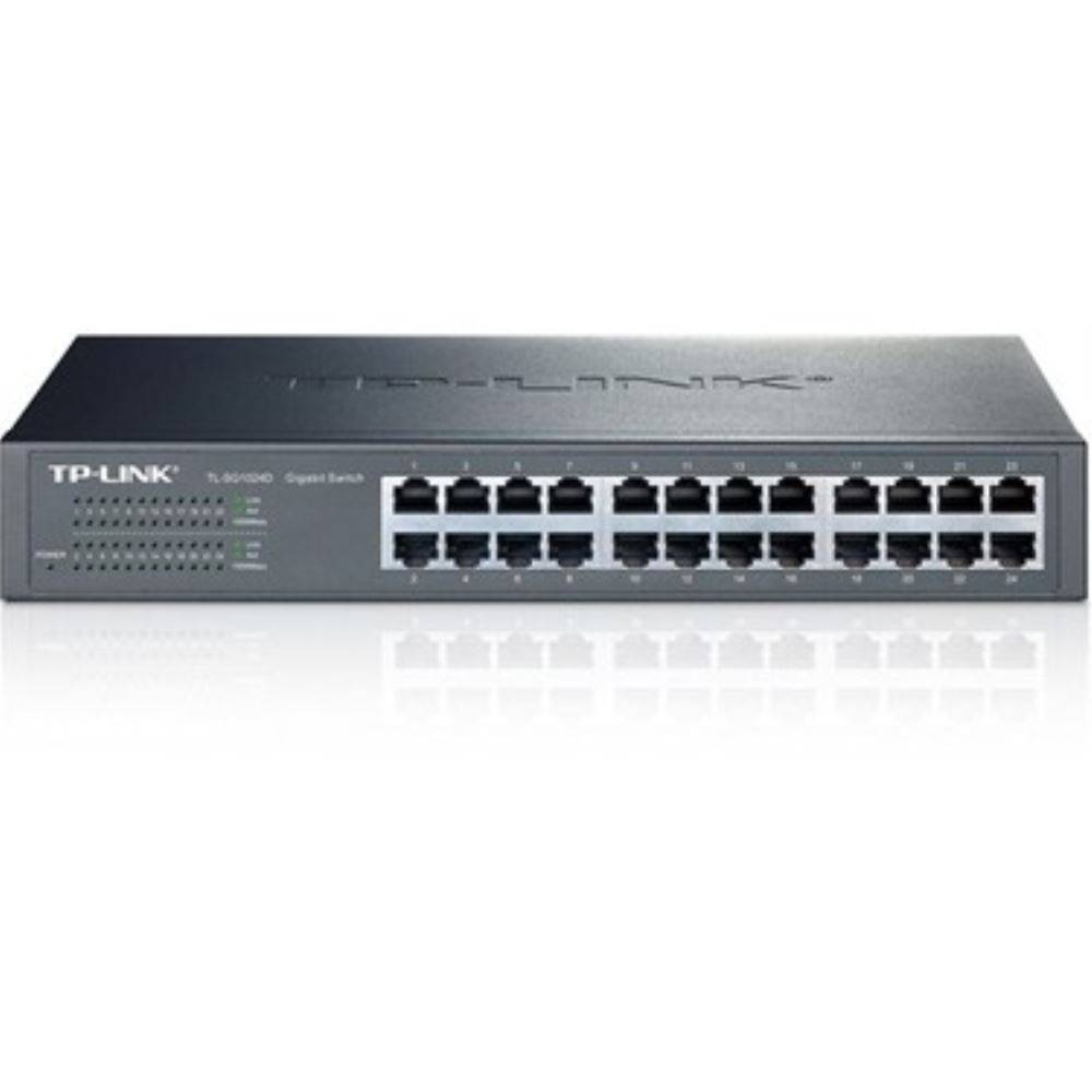 HUB TP-LINK TL-SG1024D 24PORT 10/100/1000 SWİTCH RACK