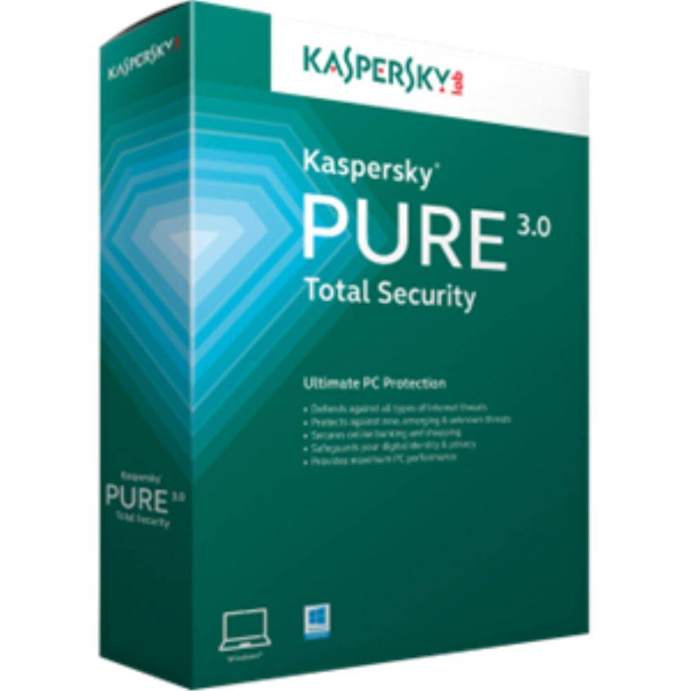 AV KASPERSKY PURE TOTAL SECURITY 3.0 3 KULLANICI